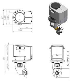 Craftsman Marine boegschroef 35kgf 12V
