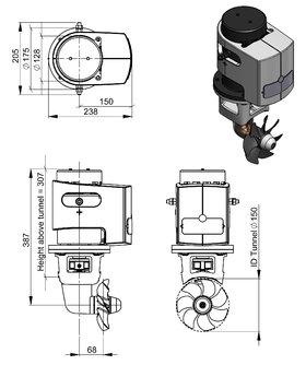 Craftsman Marine 55kgf 12V boegschroef