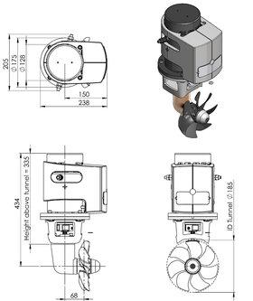 Craftsman Marine boegschroef 80kgf 12V