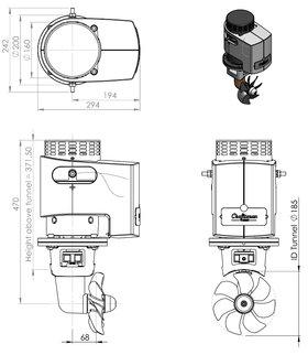Craftsman Marine hekschroef 80kgf 24V