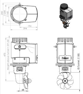 Craftsman Marine 95kgf 12V Bugstrahlruder