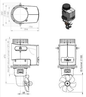 Craftsman Marine hek- / boegschroef 95kgf 12V