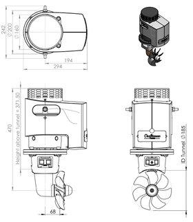 Craftsman Marine hek- / boegschroef 115kgf 24V