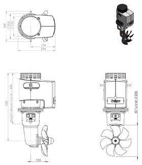 Craftsman Marine 125kgf 12V boegschroef