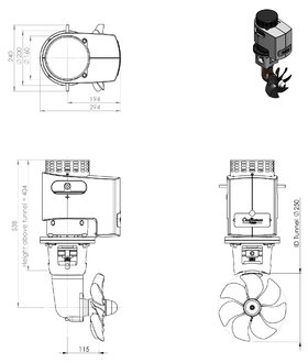 Craftsman Marine 150kgf 24V boegschroef