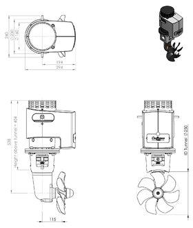 Craftsman Marine hek- / boegschroef 150kgf 24V