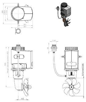 Craftsman Marine hek- / boegschroef 170kgf 24V