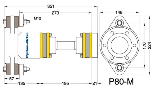 Python Drive P80-M dwarsdoornede