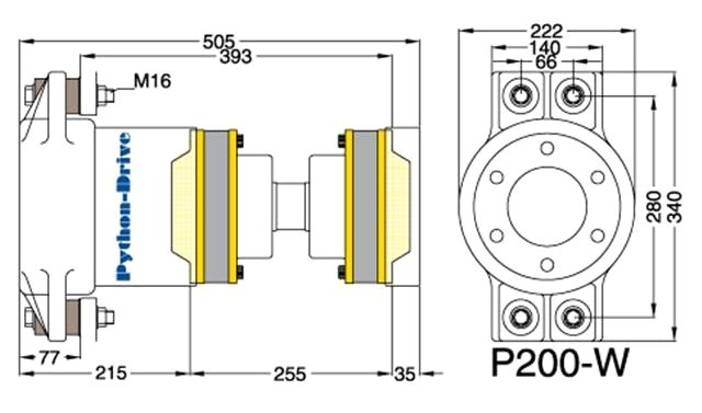 Cross-section Python Drive P200-W