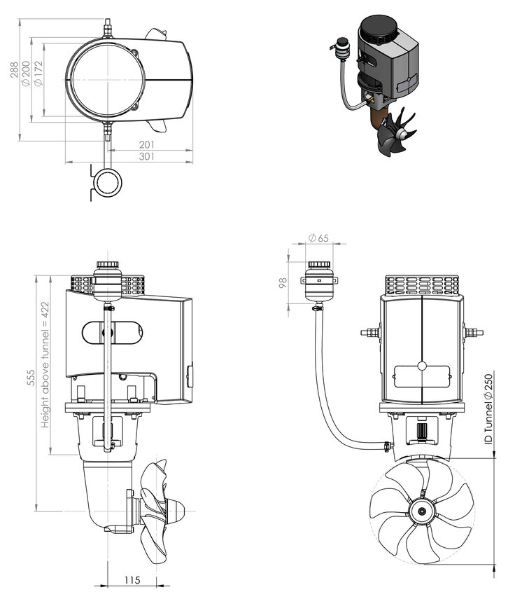 Craftsman Bow Thruster 170kgf at Thruster Specialist