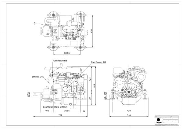 Craftsman Marine CM2.16 Engine by specalist Drinkwaard Marine